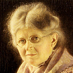 German artists - Heuster Carl Portrait Of An Elderly Swabian Woman