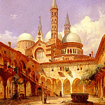 German artists - Frey Louis A Street Scene Before A Mosque