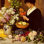 German artists - Scholderer Otto The Flower Arrangement