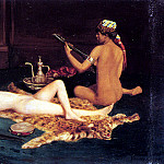 German artists - Fenner Behmer Hermann Reclining Odalisque