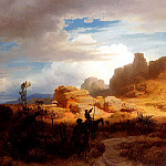 German artists - Achenbach Oswald Don Quixote and Sancho Panza