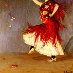 German artists - Kampf Arthur A Flamenco Dancer