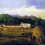 German artists - Deppe, Ferdinand (German, active in America, 1800s) San Gabriel Mission, 1832