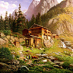 German artists - Engelhardt Georg An Alpine Mill House