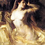 German artists - Kricheldorf Carl A Voluptuous Nude