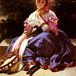 German artists - Winterhalter Franz Xaver Jeune Fille De L-Ariccia
