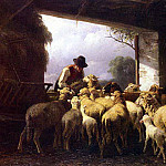 German artists - Mali Christian Friedrich Feeding The Sheep