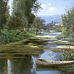 German artists - Karcher Gustave The Row Boat 1899