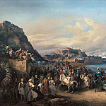 HESS Heinrich Maria von The Entry Of King Othon Of Greece Into Nauplia, Немецкие художники