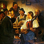 German artists - Kauffman Hugo Wilhelm The Zither Player