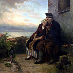 German artists - Hubner Carl Mourning Their Loss
