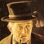 German artists - Heuster Carl Portrait Of An Elderly Swabian Man