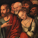 German artists - CRANACH Lucas the Younger Christ And The Fallen Woman