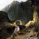 German artists - BLECHEN Karl Building The Devils Bridge