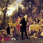 German artists - Herpfer Carl A Festive Gathering