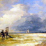 German artists - Achebach Andreas Fishing Along The Shore