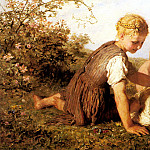 German artists - Bauerle Carl Wilhelm Friedrich An Autumn Idyll