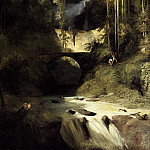 German artists - BLECHEN Karl Gorge At Amalfi