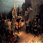 German artists - Beckmann Wilhelm The Surrender Of The City Of Rosenberg In The Hussite War