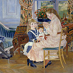 Fritz Von Uhde - Pierre-Auguste Renoir (1841-1919) - Children's Afternoon at Wargemont
