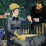 Wilhelm Trubner - Edouard Manet (1832-1883) - In the Conservatory