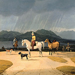 Wilhelm von Kobell - Riders at the Tegernsee