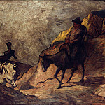 Gustave Moreau - Honore Daumier (1808-1879) - Don Quixote and Sancho Panza