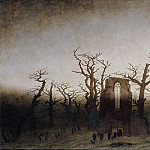 Karl Friedrich Schinkel - Caspar David Friedrich (1774 - 1840) - Abbey among Oak Trees