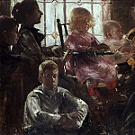 Max Liebermann - Lovis Corinth - The Family of the Painter Fritz Rumpf