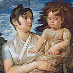 Joseph Anton Koch - Philipp Otto Runge (1777 - 1810) - Pauline Runge with her two-year-old-son