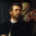 Arnold Bocklin - Self-Portrait with Death Playing the Fiddle
