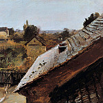 View of Roofs and Gardens, Carl Blechen