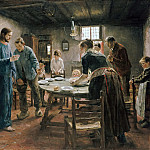 Paul Graeb - Fritz von Uhde (1848 - 1911) - The Mealtime Prayer