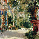 The Interior of the Palm House, Carl Blechen