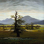 Caroline Bardua - Caspar David Friedrich (1774 - 1840) - Solitary Tree
