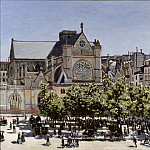 Julius Schrader - Claude Monet (1840-1926) - St. Germain l'Auxerrois