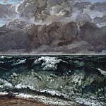 Wilhelm Leibl - Gustave Courbet (1819 1877) - The Wave