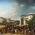 Domenico Quaglio - Franz Kruger (1797 - 1857) - Parade on the Opernplatz in Berlin