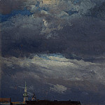 Johan Christian Clausen Dahl – Stormclouds over the Castle Tower in Dresden