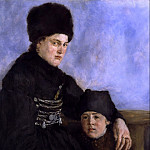 Wilhelm Leibl - Dachau Woman and Child