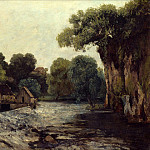 Julius Schrader - Gustave Courbet (1819 1877) - The Weir at the Mill