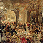 Adolph von Menzel – The Supper at the Ball