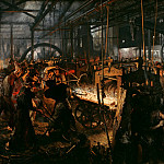 Adolph von Menzel - The Iron Rolling Mill