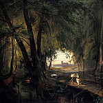 Carl Blechen - Forest path near Spandau