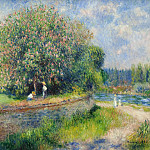 Chestnut Tree in Bloom, Pierre-Auguste Renoir