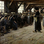 Max Liebermann - The Flax Barn at Laren