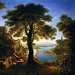 Joseph Anton Koch - Karl Friedrich Schinkel (1781 - 1841) - Castle by the River