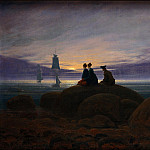 Franz Ludwig Catel - Caspar David Friedrich (1774 - 1840) - Moonrise over the Sea