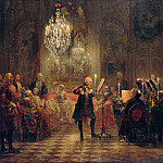 Friedrich Loos - Adolph von Menzel (1815-1905) - Flute Concert with Frederick the Great in Sanssouci