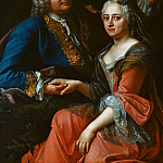 Anton Graff - Anonimous Author - Johann Christoph Gottsched with his wife Luise